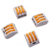 New Wago 10 pcs PCT-213 Universal Compact Wire Connector Single Conductor Stranded wire Connector Terminal Block