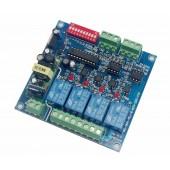 AC110V-220V 4CH RELAY DMX512 DECODER Converter DMX-RELAY-4CH-220-BAN