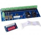 DMX512 controller 27-way decoder stock WS-DMX-27CH-RJ45-DIPZ
