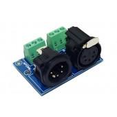 DMX512 Relays connector terminal adapter 5 pin XLR 3P to 5 core XLR Controller XLR5-3P