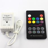 RF RGB Music Sound Wireless RF Remote LED Controller Longer Distance 2pcs