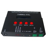 Brand New T-8000A SD Card LED Pixel Controller 8 Port Off line For IC LPD6803 WS2801 WS2811 WS2812B LED 5V