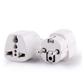 Travel Adapter Electrical Plug For UK US EU AU to EU European Socket Converter 10pcs