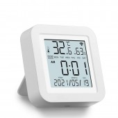 WIFI Smart Temperature Humidity Sensor Indoor Hygrometer Thermometer With LCD Display Real Time Update USB Charge